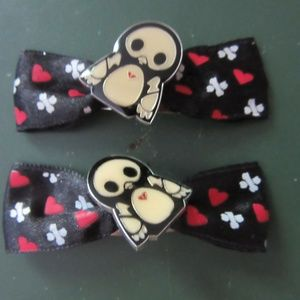 Skeleanimals Hot Topic Penguin Hair Barrettes